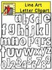 Gumbo Line Art Letters and Numbers Clipart
