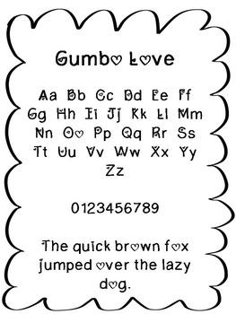 FREE FONT - Gumbo Love Font