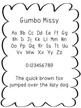 FREE FONT - Gumbo Missy Font
