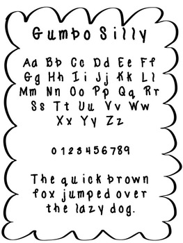FREE FONT - Gumbo Silly Font