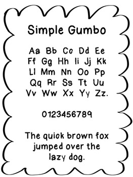 FREE FONT - Gumbo Simple Font