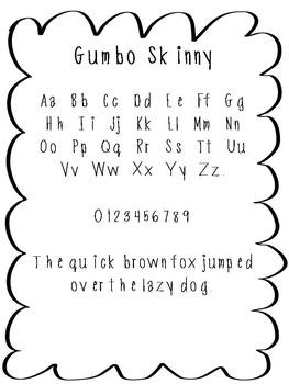FREE FONT - Gumbo Skinny Font