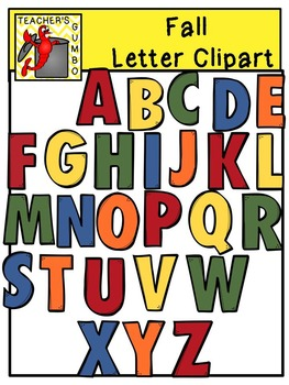 Gumbo-Styled Fall Letters and Numbers Clipart