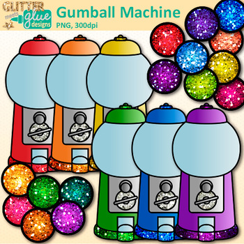 Gumball Machine Clip Art | Counting and Sorting Manipulatives for Math Centers