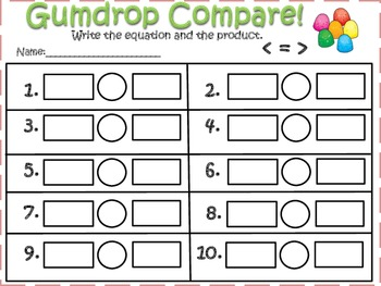 Gumdrop Compare!! (Multiply Factors & Compare Products)