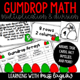 Christmas Gumdrop Multiplication & Division - Facts, Array