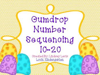 Gumdrop Number Sequencing {FREEBIE}