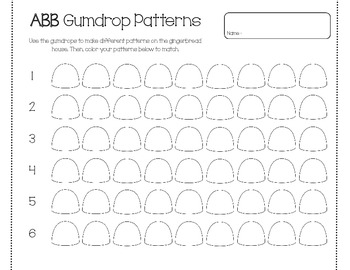 Gumdrop Patterns (AB,ABB,AAB,ABC,ABBC,ABCD)