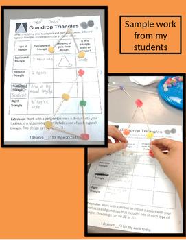 Gumdrop Triangles 4.G.B.2, 6.G.A.1