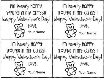 Gummi Bear Valentine Tag Freebie!