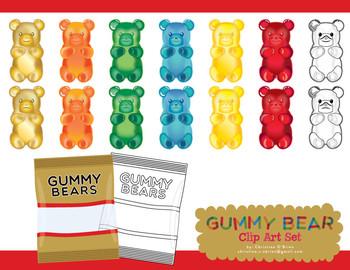 Gummy Bear Clip Art / Food Clip Art Set