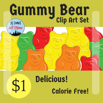 Gummy Bear Clip Art Set