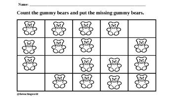 Gummy Bear Counting Mat