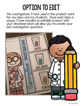 Gummy Bear Flip Book Investigations