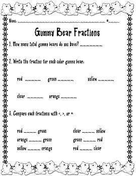 Gummy Bear Fractions