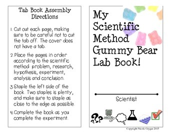Gummy Bear Lab Tab Book