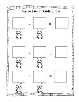 Gummy Bear Math Packet