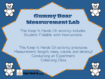 Gummy Bear Measurement Lab