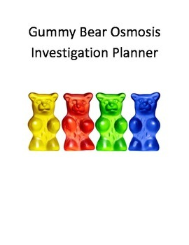 Gummy Bear Osmosis Investigation Planner