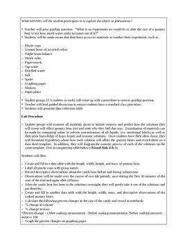 Gummi Bear Osmosis STEM Lab LESSON PLAN