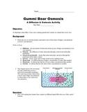 Gummi Bear Osmosis STEM Lab STUDENT HANDOUT