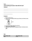 Gummy Bear Osmosis and Diffusion Worksheet