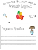 Science Fair- Scientific Method -Gummy Bear Science Logbook