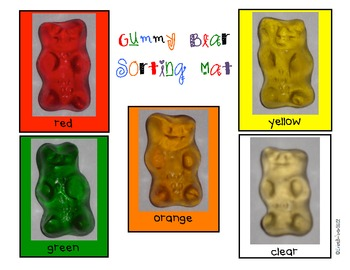 Gummy Bear Sorting, Tallying, Graphing & Analyzing Data Math Center