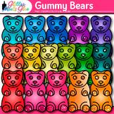 Gummy Bear Clip Art {Rainbow Glitter Candy for Math Centers}