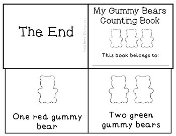 Gummy Bears Counting Emergent Reader