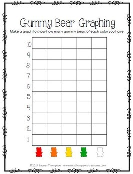 Gummy Bears Fun Activity Pack {Graphing, Sorting, Patterns & More}