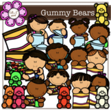 Gummy Bears digital Clipart (color and black&white)
