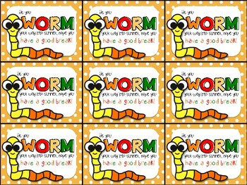 Gummy Worm End of Year Gift Tag