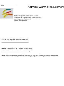 Gummy Worm Measurement Activity
