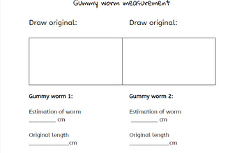 Gummy Worm Measuring