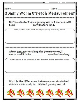 Gummy Worm Stretch Measurement