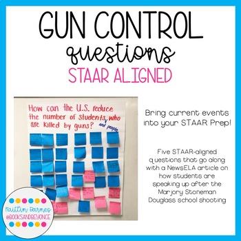 Gun Control Questions (STAAR ALIGNED--TEKS 5.2B, 5.10A, 5.Fig19E)