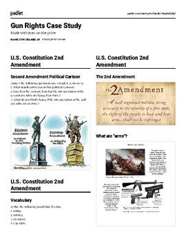 Gun Rights Case Study: School Shootings (Padlet)