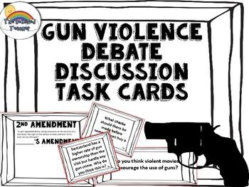 Gun Violence/ Anti Violence/ 2nd Amendment Task Card Activity Game