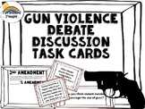 Gun Violence/ Anti Violence/ 2nd Amendment Task Card Activity Game