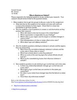 Gun Violence Research Assignment Current Issue Social Studies