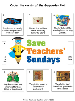 Gunpowder plot Lesson plan and Worksheets