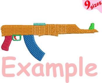 Guns Embroidery Design Machine toys pistol toy Handgun Weapon ak47 shotgun 175b