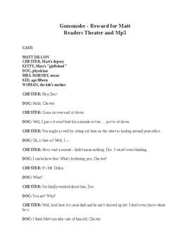 Gunsmoke - Reward for Matt - Readers Theater and Mp3