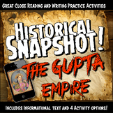 Gupta Empire Historical Snapshot Close Reading Investigation