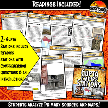 Gupta Empire Resource and Assessment Activity Bundle with Six Lesson Plans