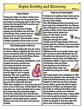 Gupta Empire Society & Economy
