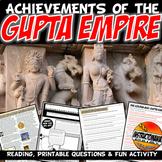 Gupta Empire Lesson Plan: The Golden Age Literacy & Writing Activity & Fun AD