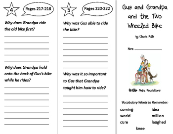 Gus & Grandpa & the Two Wheeled Bike Trifold - Storytown 2nd Grade Unit 2 Week 2