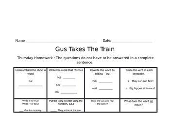 Gus Takes a Train Journey's Common Core